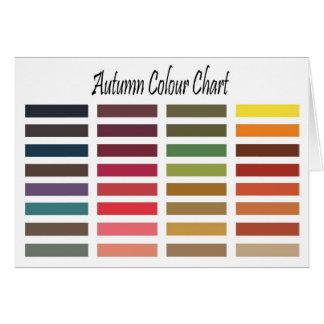 Autumn color chart card