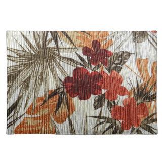 Autumn color flowers palcemats place mats