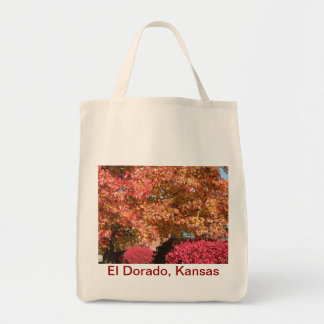 Autumn color grocery tote