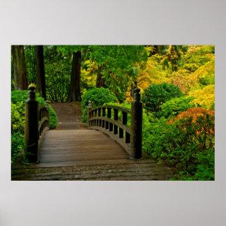 Autumn Color, Portland Japanese Garden Poster