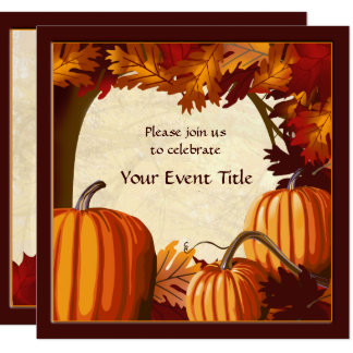 Autumn Color Pumpkin Patch All Occasion Custom Card