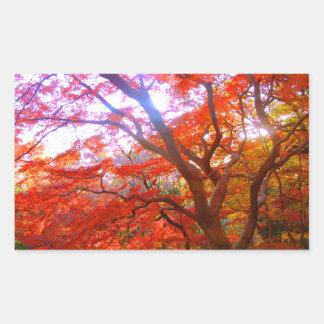 Autumn Color Rectangular Sticker