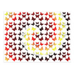 Autumn Color Swirl Butterfly Pattern Post Cards