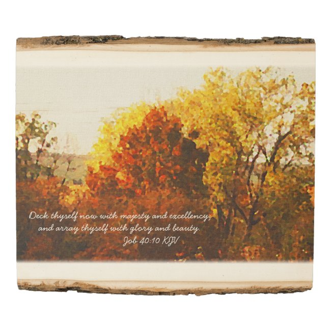 Autumn Color Trees Digital Oil with Bible Verse