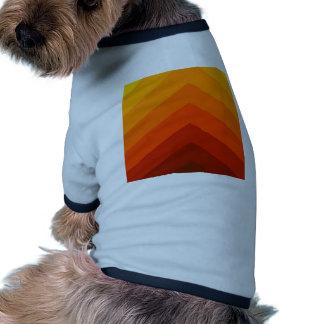 Autumn Colored Stripes Vintage Rock Styles Pet T-shirt