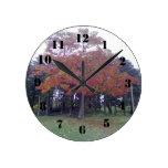 Autumn colored Tree Clock