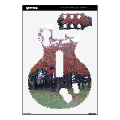 Autumn Colored tree Decal For Guitar Hero