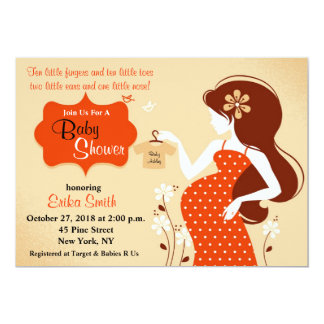 Autumn Colors Baby Shower Invitations