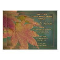 Autumn Colors Couples Wedding Shower Invitation