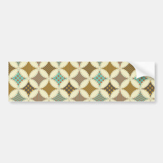 Autumn Colors Diamond Star in Circle Pattern Print Bumper Stickers