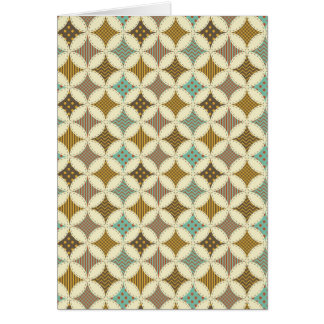 Autumn Colors Diamond Star in Circle Pattern Print Card