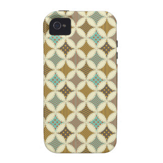 Autumn Colors Diamond Star in Circle Pattern Print Case-Mate iPhone 4 Covers