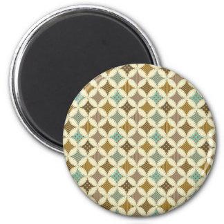 Autumn Colors Diamond Star in Circle Pattern Print Magnet