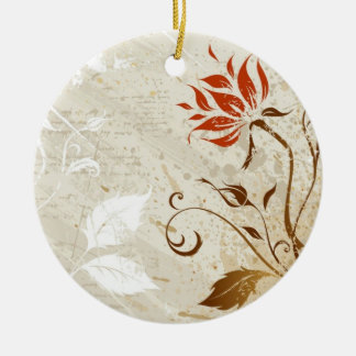 Autumn Colors Double-Sided Ceramic Round Christmas Ornament