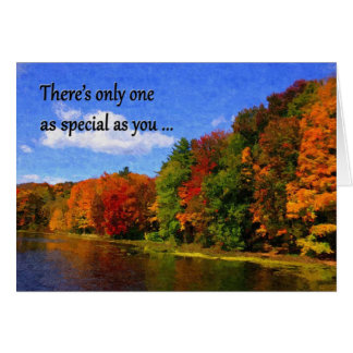Autumn Colors fall birthday card gay/lesbian