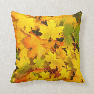 Autumn Colors Fall Leaves Throw Pillow