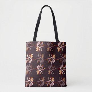 Autumn colors foliage print tote bag
