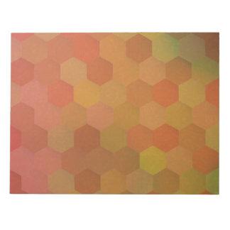 Autumn colors hexagonal vintage pattern notepad