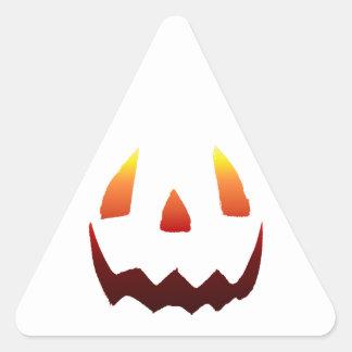 Autumn Colors Jack O' Lantern Face Triangle Sticker