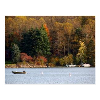 Autumn Colors Lakeside Postcard