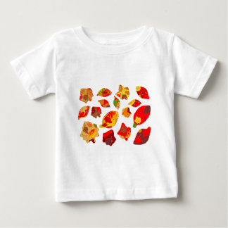 Autumn Colors Leaf Pattern Baby T-Shirt