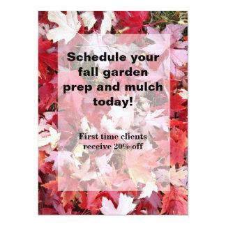 Autumn Colors Leaves Card