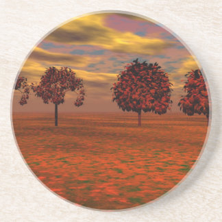 Autumn Colors Maple Trees Art Gifts Beverage Coaster