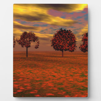 Autumn Colors Maple Trees Art Gifts Plaque