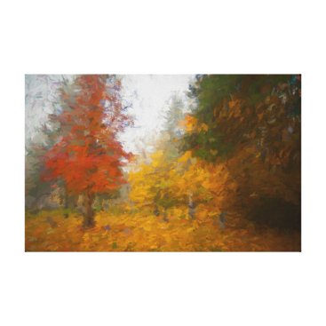 Art Themed Autumn colors oil painting canvas print