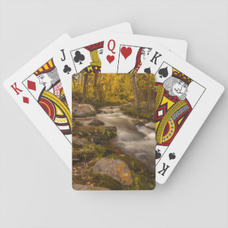 Autumn colors on Crestone Creek Deck Of Cards