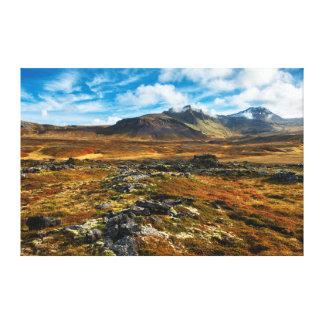 Autumn colors on the landscape canvas print