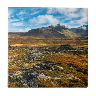 Autumn colors on the landscape ceramic tile