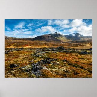 Autumn colors on the landscape poster