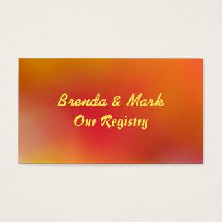 Autumn Colors Orange & Red Wedding Registry Card