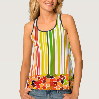 Autumn Colors Orange Red Yellow Apple Green Brown Tank Top