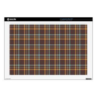 """autumn colors plaid pattern 17"""" laptop skins"""