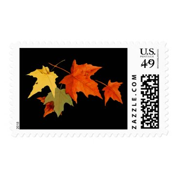 Halloween Themed Autumn Colors Postage