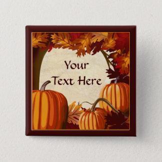 Autumn Colors Pumpkin Patch Custom Party Button
