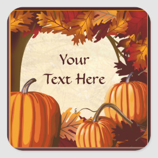 Autumn Colors Pumpkin Patch Custom Sticker
