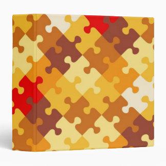 Autumn colors puzzle background binder