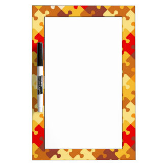 Autumn colors puzzle background Dry-Erase board