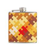 Autumn colors puzzle background hip flasks