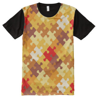 Autumn colors puzzle background All-Over print t-shirt