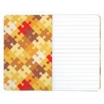 Autumn colors puzzle background journals