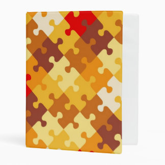Autumn colors puzzle background mini binder
