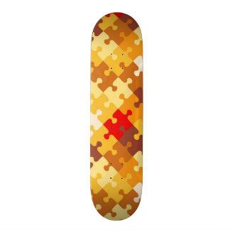 Autumn colors puzzle background skateboard deck