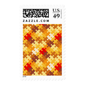 Autumn colors puzzle background stamps