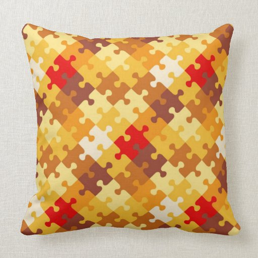 Autumn colors puzzle background throw pillows