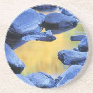 Autumn colors reflected in a wading pool, coaster