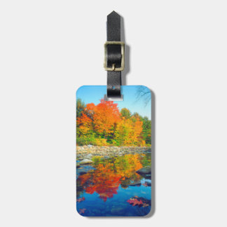 Autumn Colors reflecting in a stream in Vermont Bag Tag